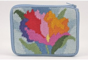 Coin Purse - Watercolour Poppy - Needlepoint Kit