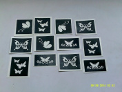 10 x Butterfly stencils for etching on glass (mixed) gift present glassware hobby craft