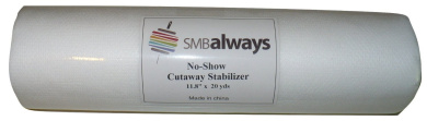 No-Show Cut Away Stabiliser Backing, 30cm by 20 yards, by SMB Always