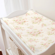 Carousel Designs Pink Floral Changing Pad Cover Contoured Style