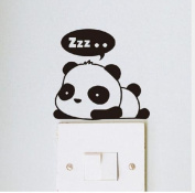 uhoMEy Panda Switch Sticker Wall Decor