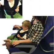 Flii Portable Kids Seat Belt Harness Straps Black Safety Suspenders Accessories Baby Car Seat Safety Vest Travel Plane Train