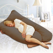 Smartxchoices U Shaped-Premium Contoured Body Pregnancy Maternity Pillow with Zippered Cover