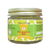 BALM! Baby EUCALYPTUS RUB - Natural Chest & Tummy Rub for Stuffy Noses & Chests and Nausea - 60ml Glass Jar {Made in the USA!}