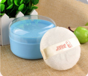 Baby After-bath Powder Puff Kit Container Dispensor Case With Sifter 8.9cm Blue