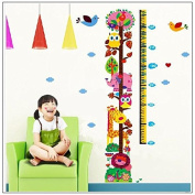 chendongdong Animals Lion Giraffe Elephant Owls Tree Children's Height Chart Wall Stickers