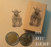 P63 Yoda miniature rubber stamp