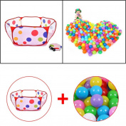 Hrph 50pcs Soft Plastic Ocean Ball & Pool for Baby Kid Pit Toy Swim Outdoor Secure Fun toy