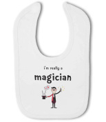 Im Really a Magician funny - Baby Bib