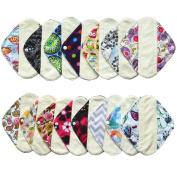 6 Pieces 20cm Bamboo Mama Cloth/ Menstrual Pads - You Choose 6 From 15 Designs and Send Message to Me