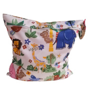 Babies Infants Colourful Cartoon Animal Forest Pattern Waterproof Reusable Washable Zipper Baby Cloth Nappy Nappy Bag Storage Carrier