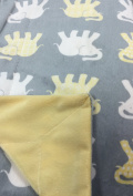 Baby Thro Bazaar Elephants Decorative Microplush Baby Throw 30 X 40 - Yellow & Grey
