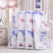 Lovely Underworld Sea Fish Shark Dolphin Quilts/ Duvets Lightweight Quilts for Babys Kids, 200CM*230CM 100% Cotton Fabric, Univeral