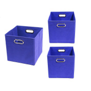 Modern Littles Organisation Bundle-3 Storage Bins, Bold Blue