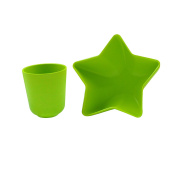 Pacific Baby Star Bowl Plus Cup, Green