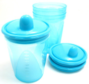Griptight - 3 Travel Sipper Beaker Cups 200ml