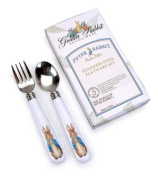 Golden Rabbit Child Fork & Spoon Set, Peter Rabbit