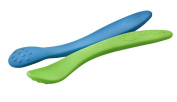 oogaa Silicone Baby Weaning Spoons - Boy