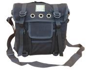 Mens Travel Shoulder Bag Satchel Combat Messenger Army Military Surplus Black