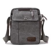 Super Modern™ Men Small Vintage Canvas Messenger Bag Cross body bag Pack Organiser Satchel Bag Durable Multi-pocket Sling Shoulder Bag