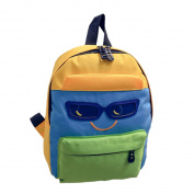 Fletion Coloured Hip Hop Fantastic Mini Backpack with Cool Glasses and Smiling Face Cotton Pattern for Unisex-Child Unisex Children Kids Kindergarten Students - Colourful 1