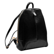 YIJI Women's Leisure Leather Pure-Coloured Small Backpack