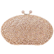 Santimon Egg Rhinestone Kiss Lock Purses Luxury Clutch Evening Bag