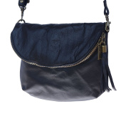 """SMOOTH CALF LEATHER CROSS BODY BAG """"SADDLE"""" WITH A LONG STRAP 6120"""