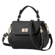 Baymate Women's Litchi Profile Cross Body Bag with Metal Decoration