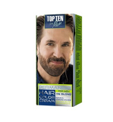 Top Ten for Men Permanent Colour Cream for Hair, Beard & Moustache - Easy to use. Visible effect after 10 min!