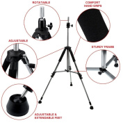 TekNoh - Deluxe - Adjustable Tripod Stand Clamp - Manikin Mannequin Hairdressing Training Head Holder Wig