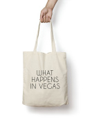 What Happens in Vegas Tote Bag 150ml Premium Quality Natural Cotton Shopper Eco