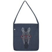 Twisted Envy Hipster Zebra Rhinestone Diamante Tote Bag