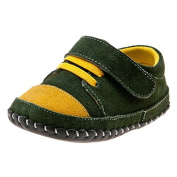 Little Blue Lamb Boys' First Walking Shoes GREEN