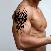 TAFLY Men's Temporary Tattoo Tribal Pattern Tattoo Sticker for Men 3 Sheets ...