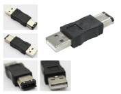 Kalea-Informatique © USB Male to Firewire IEEE1394a Male with 6 Pin Plug Adaptor for Peripheral Devices that are Compatible Only With This Type of Adaptor