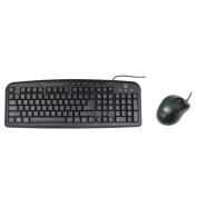 3123 Kit Ewent EW Multimedia Keyboard and Optical Mouse, USB Cable, Italian Design, QWERTY, Black