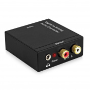 DAC Converter Neoteck Digital to Analogue Audio Converter Optical Coaxial Toslink Signal to Analogue Audio Adapter RCA L/R with 3.5mm Jack Output for HDTV Blu Ray DVD Sky HD XBox 360 PS3 Amazon Fire TV Box