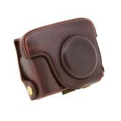 Canon PowerShot G16 Camera Case - TOOGOO(R)for Canon PowerShot G16 Digital Camera Case PU Leather Case With shoulder belt
