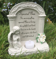 Special Nan Graveside Memorial Plaque Praying Angel Tea Light
