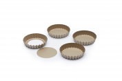 Paul Hollywood by KitchenCraft Non-Stick Round Fluted Mini Tart Tins, 10 cm
