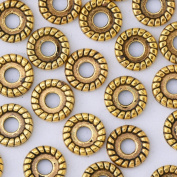 lots of 50pcs 10mm vintage beads cap,filigree beads cap,end cap,flower spacer metal beads,Antique Gold