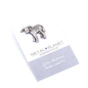 Cow pewter pin badge by Luna London, UK. Gift