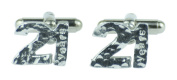 21st Birthday Cuff links - Hammered Rustic Effect Made for the 21st Birthday Gift Idea, Made In UK