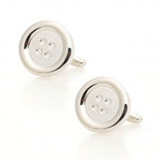 Hrph Button Cufflinks Jewellery Shirt Cufflinks Cuff Buttons Laser Pattern Cuff Link For Men Gift
