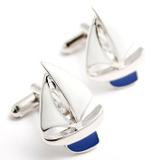 Hrph Sailing Cufflinks Jewellery Shirt Cufflinks Cuff Buttons Laser Pattern Cuff Link For Men Gift