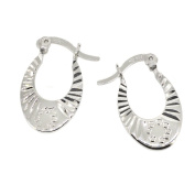 Sadira Sunray Creole Earrings in Sterling Silver