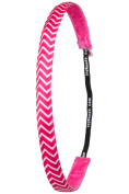 Ivybands IVY776 Headband The Non Slip Headband, Chevron Pink, Slimline, 1.6 cm Wide, One Size