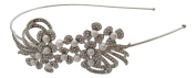 Pick A Gem Wedding Hair Accessories. Crystal and Pearl Cluster Headband / Side Tiara / Mother of the Bride