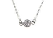 Fashion Secret Line Necklace - Genuine 925 Sterling Silver - length